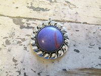 Purple stone antique silver pendant #HU14-49