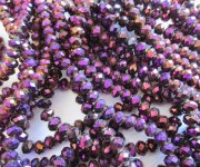 Purple/Maroon Faceted Rondelle beads #1443