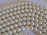 Off White Glass Pearls 12mm #1870