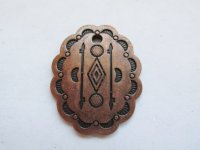 Concho antique copper arrow charm #MP97