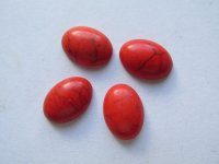 10x14mm Orange Oval Cabs (4pcs) #CAB-50