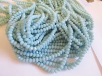 Blue opaque crystal faceted beads #Tu1380