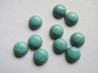 10mm Turquoise cabochon (bag of 10) #ECAB-13