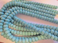 Turquoise Rondelle beads 14mm #1496