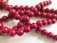 Red Glass pearls #HU14-1315