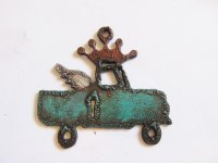 Truck with wings and crown- Patina #CM-20
