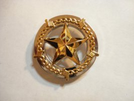 Texas star Silver and gold concho #CONCHO1