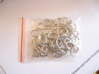 jump rings - antique silver -OVAL #JR14