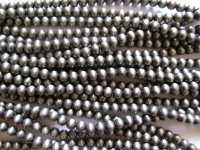 Silver Faux Navajo Indian Pearls acrylic round 8mm #1675