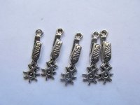 Spur rowel charms (5 PIECES) #HU14-23