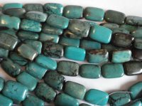 Turquoise rectangle beads #SS1040BB