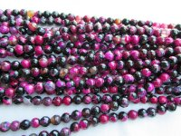 Maroon and Black agate 8mm round #1869