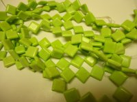 Lime green Triangle beads #GG1108