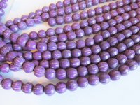 purple ribbed rounds #1602