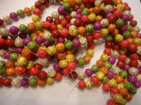 Multi colored round beads #SS1245