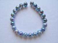 Blue Acrylic Pearlized Rounds #1366
