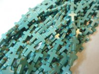 Turquoise blue cross beads #TU1193-12