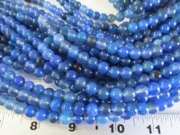 Blue agate rounds 8mm #1668