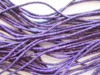 Purple small rondelle beads #1546