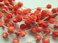 Peach acrylic rose 10mm #1305