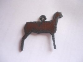 Lamb metal pendant #BY015