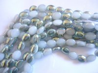 silver and white ovals #1382