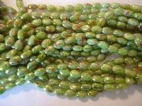 Lime green and pink glass beads #h1304
