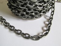 Chain by the foot - Gun metal oval #CHBS-002