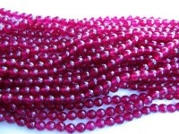 Maroon faceted round 6mm #1859