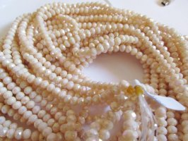 Apricot Light Faceted Rondelle beads #tu1088-14