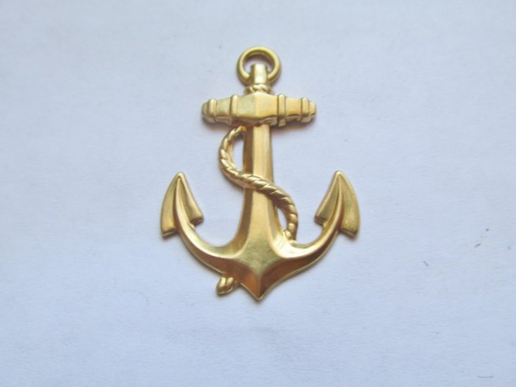 Raw Brass Anchor #SA-6206 - Click Image to Close