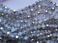 Silver and clear round faceted Crystals 10mm #1780