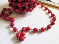Bead chain - Red (1 ft) Brass 8mm #PCRbronze