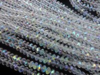 Clear AB Rondelle crystals #BS1236