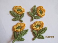 Applique Yellow Flowers (4pcs) #App725-1