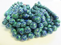 Blue and green Mosaic rounds 14mm #1658