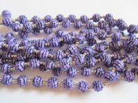 Purple and black bubble beads #A1575
