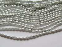 Silver Barrel Beads # 1647