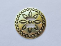 "Slotted Antique Brass Concho (1 1/2"") #CONCHO30"