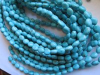 Turquoise small oval 10mm #1547B
