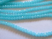 Turquoise faceted glass beads #HU-1427