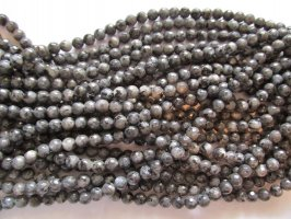 Grey smoke Agate faceted round 8mm #TU1126-17