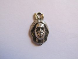 Indian pewter charm #1029-1