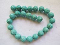 Turquoise Howlite faceted rounds 16mm #1848CL