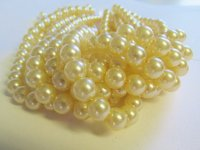 Off white Glass pearl beads #1260