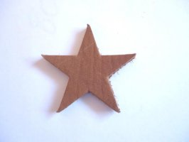 Star leather shape -Tan #LC253