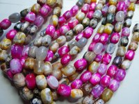 Pink Brown agate rectangle 13x18mm #GG16-1746