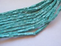 Turquoise Square Beads 8mm #1708BB