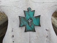 Chopper Cross with cross out #CC015.3 - Patina