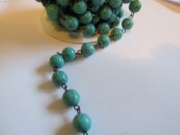 Bead chain - Turquoise - Bronze (1 ft) 10mm